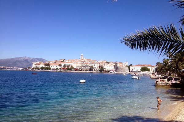 Korcula beaches and sea bathing water quality